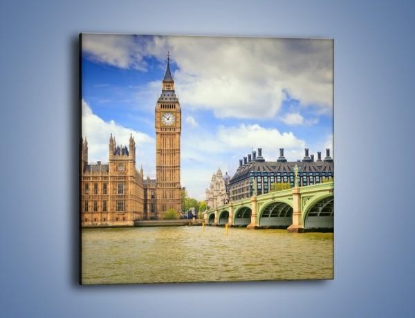 Obraz na płótnie – Big Ben w pochmurny dzień – jednoczęściowy kwadratowy AM095