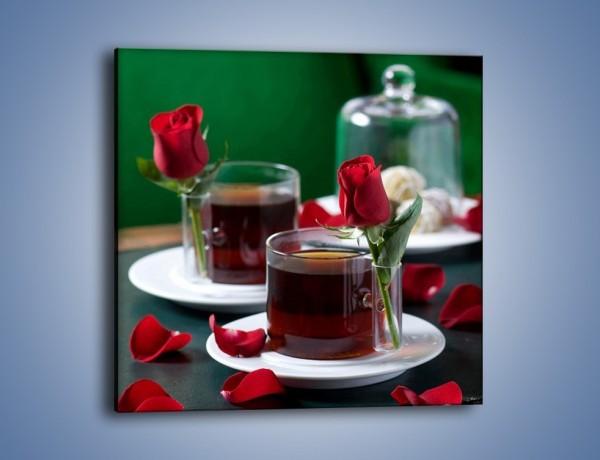 Obraz na płótnie – Herbata ze szczyptą miłości – jednoczęściowy kwadratowy JN119