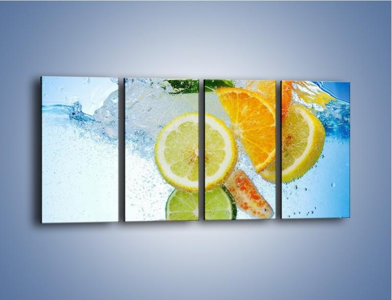 Obraz na płótnie – Zatopione plastry owoców – czteroczęściowy JN057W1