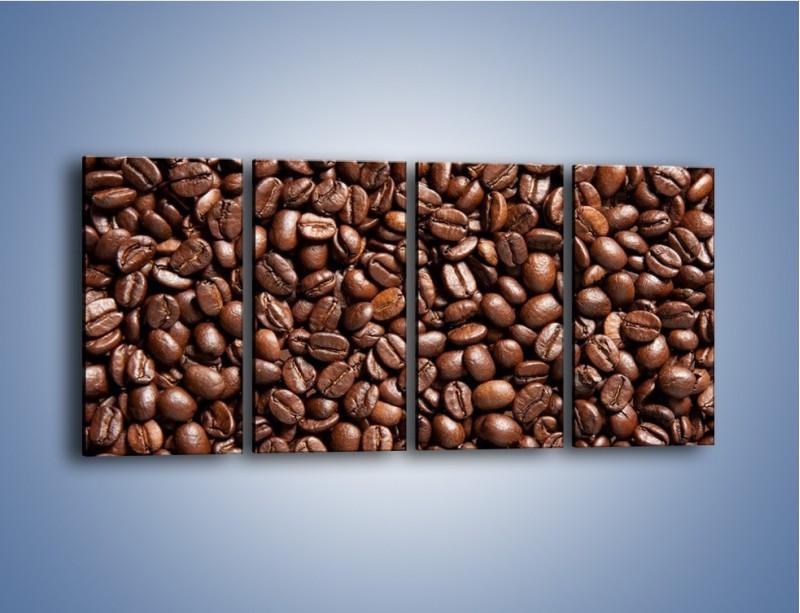 Obraz na płótnie – Ziarna świeżej kawy – czteroczęściowy JN061W1