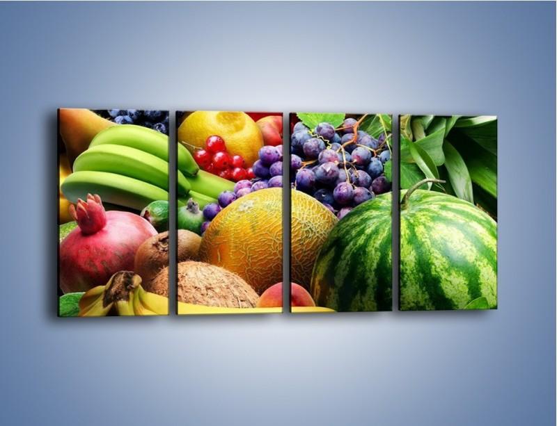 Obraz na płótnie – Stół pełen dojrzałych owoców – czteroczęściowy JN072W1