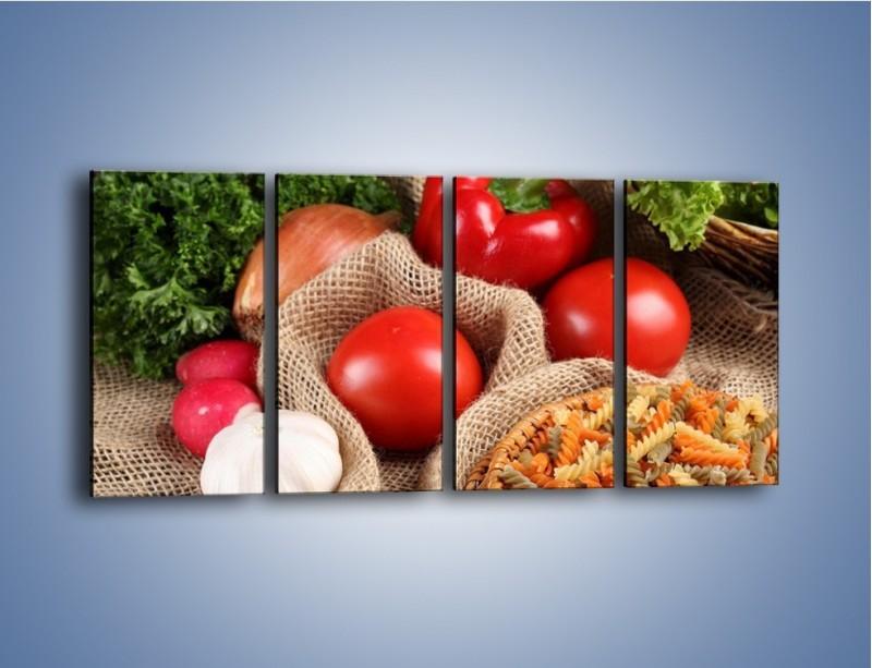 Obraz na płótnie – Makaron z warzywami – czteroczęściowy JN076W1