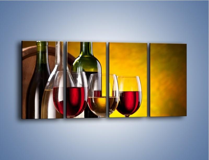Obraz na płótnie – Wino z orzechami – czteroczęściowy JN077W1