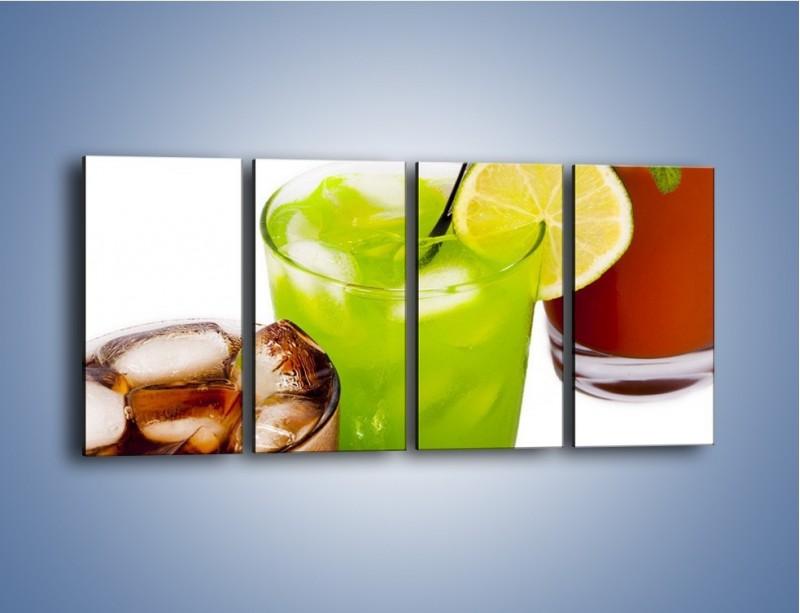 Obraz na płótnie – Kwaśno-słodkie drinki – czteroczęściowy JN093W1