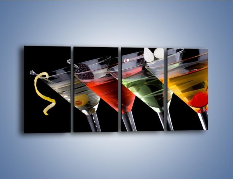 Obraz na płótnie – Alkoholowa zabawa do rana – czteroczęściowy JN100W1
