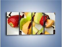 Obraz na płótnie – Czekoladowo-owocowe szaszłyki – czteroczęściowy JN112W1