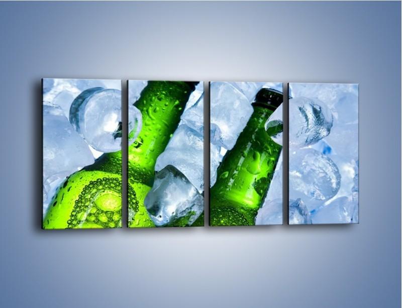 Obraz na płótnie – Czas na zimne piwko – czteroczęściowy JN148W1