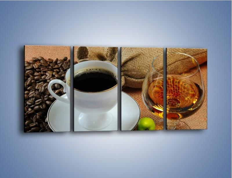 Obraz na płótnie – Wieczorowa kawa z prądem – czteroczęściowy JN166W1