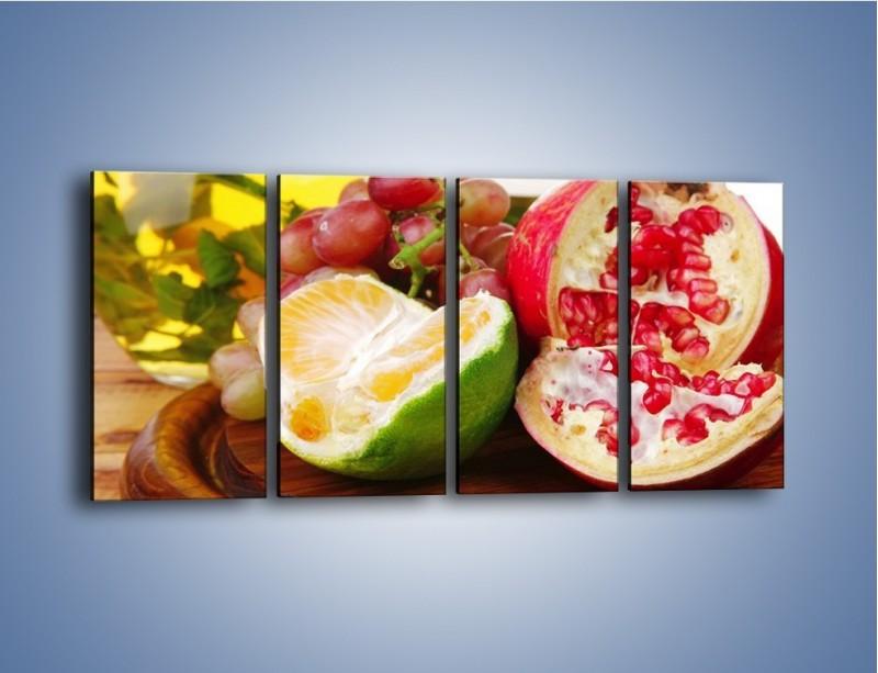Obraz na płótnie – Owocowa taca pełna zdrowia – czteroczęściowy JN170W1