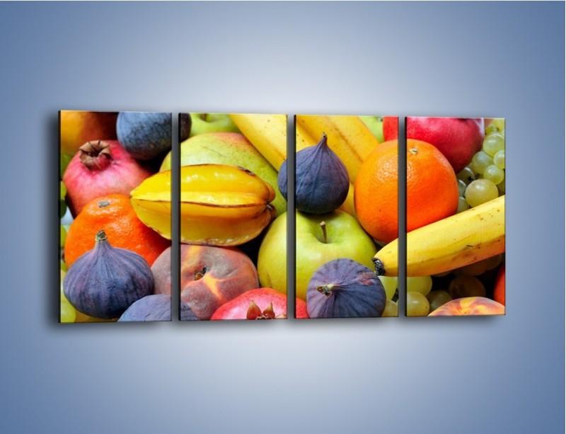 Obraz na płótnie – Owocowe kolorowe witaminki – czteroczęściowy JN173W1