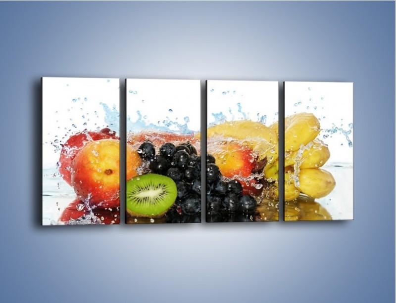 Obraz na płótnie – Owocowe nuty skąpane w wodzie – czteroczęściowy JN176W1