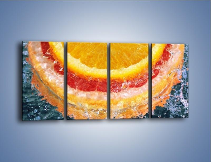Obraz na płótnie – Cytrusowe trio – czteroczęściowy JN177W1