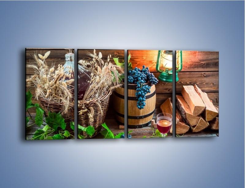 Obraz na płótnie – Wino według własnego przepisu – czteroczęściowy JN202W1
