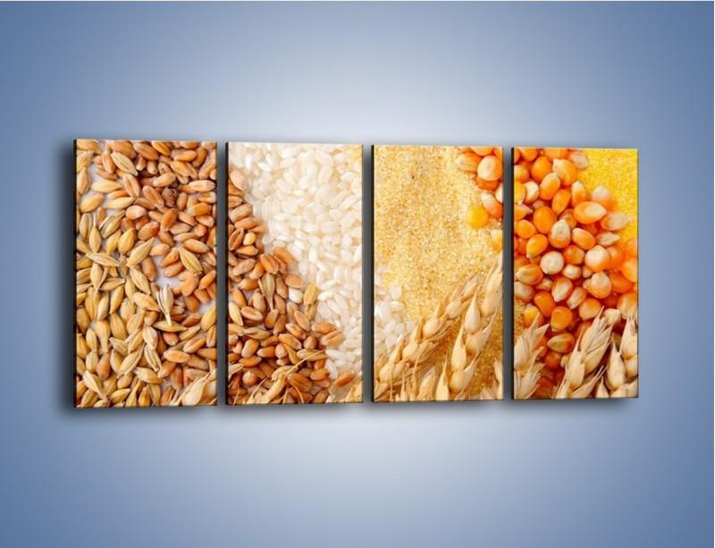 Obraz na płótnie – Ziarna pszenno-zbożowe – czteroczęściowy JN207W1