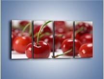 Obraz na płótnie – Czereśnia rządzi w kuchni – czteroczęściowy JN223W1