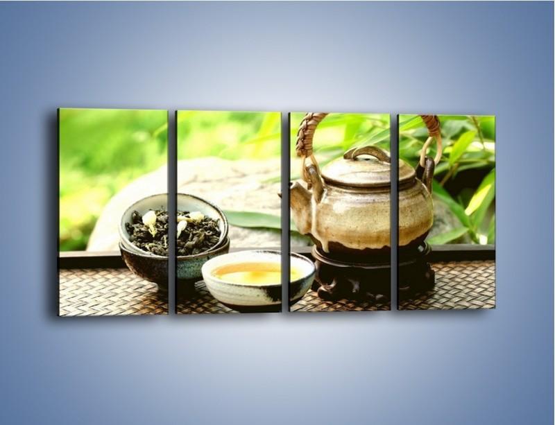 Obraz na płótnie – Herbata na świeżym powietrzu – czteroczęściowy JN249W1