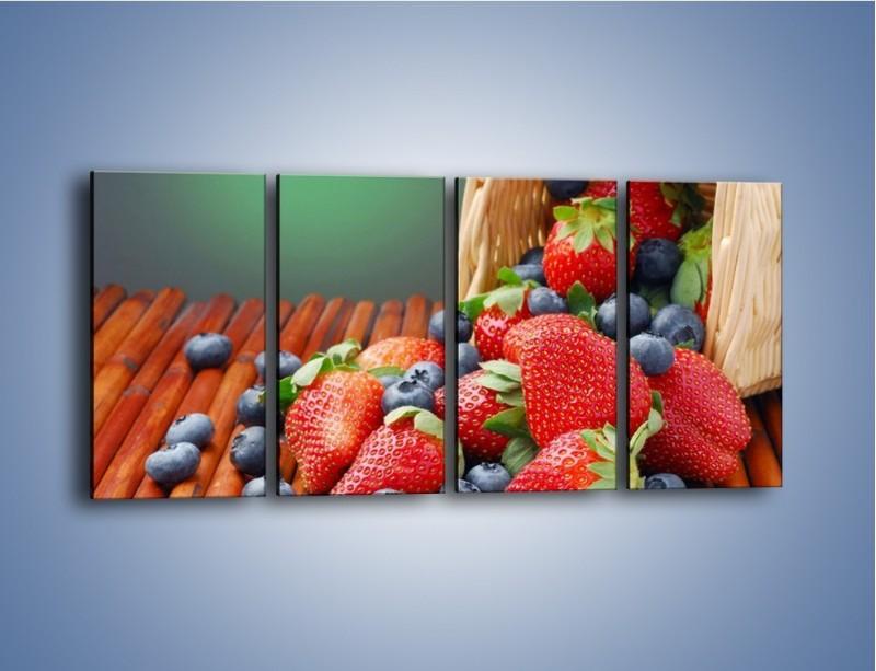 Obraz na płótnie – Truskawkowo-jagodowy obłęd – czteroczęściowy JN251W1