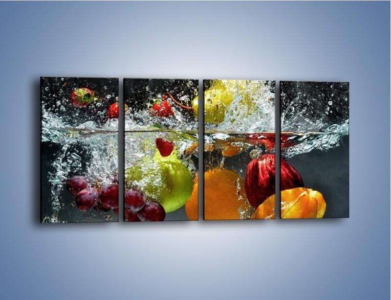 Obraz na płótnie – Głębokie owocowe zanurzenie – czteroczęściowy JN253W1