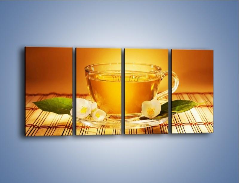 Obraz na płótnie – Delikatny smak herbaty – czteroczęściowy JN261W1