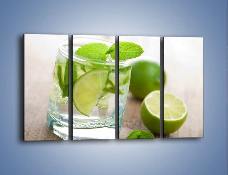 Obraz na płótnie – Limonkowy napój – czteroczęściowy JN262W1