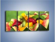 Obraz na płótnie – Arbuzowa misa z owocami – czteroczęściowy JN274W1