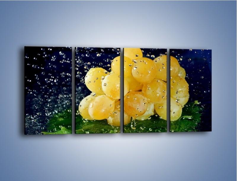 Obraz na płótnie – Słodkie winogrona z miętą – czteroczęściowy JN286W1