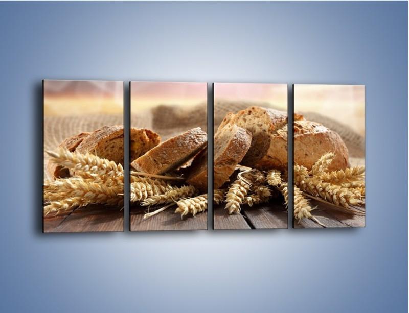Obraz na płótnie – Świeży pszenny chleb – czteroczęściowy JN287W1