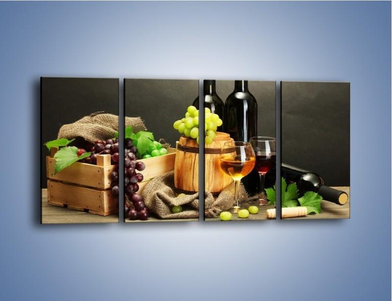 Obraz na płótnie – Wytrawne smaki wina – czteroczęściowy JN289W1
