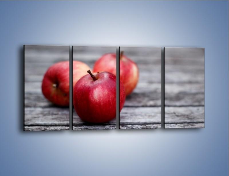 Obraz na płótnie – Jabłkowe zdrowie – czteroczęściowy JN296W1