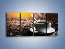 Obraz na płótnie – Aromatyczna filiżanka kawy – czteroczęściowy JN298W1