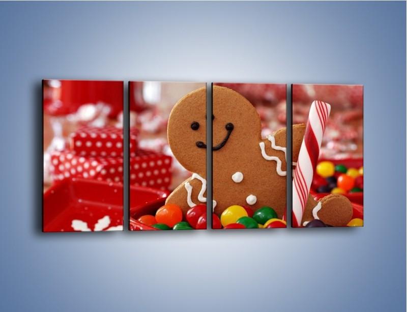 Obraz na płótnie – Ciasteczkowy ulubieniec dzieci – czteroczęściowy JN308W1