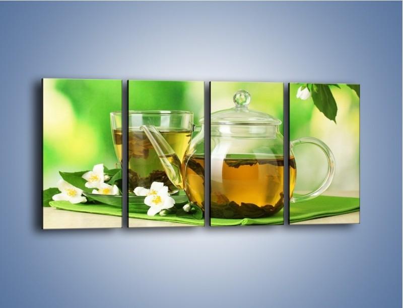 Obraz na płótnie – Herbaciane ukojenie – czteroczęściowy JN316W1