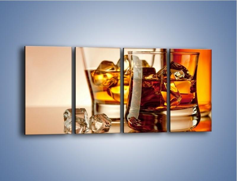 Obraz na płótnie – Męskie rozmowy przy whisky – czteroczęściowy JN318W1