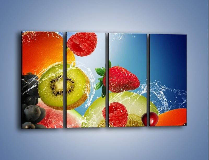 Obraz na płótnie – Owoce o poranku – czteroczęściowy JN331W1