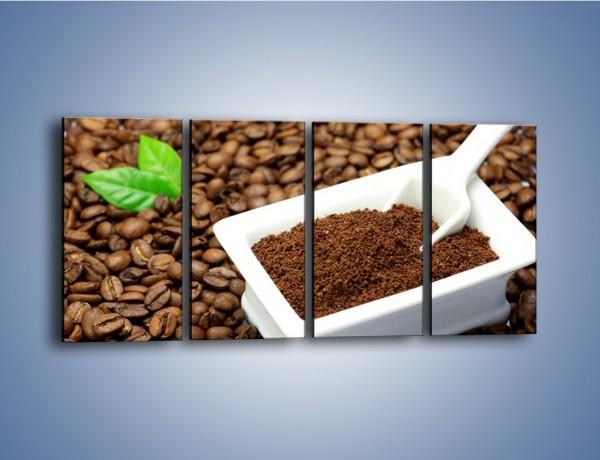 Obraz na płótnie – Zmielona kawa – czteroczęściowy JN340W1