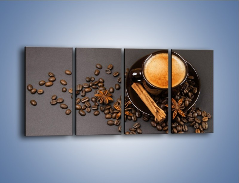 Obraz na płótnie – Kawa z goździkiem – czteroczęściowy JN349W1
