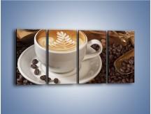 Obraz na płótnie – Czas na kawę – czteroczęściowy JN353W1
