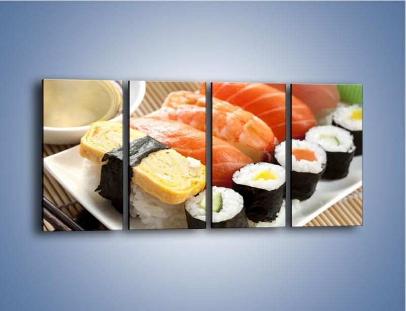 Obraz na płótnie – Azjatyckie posiłki – czteroczęściowy JN355W1