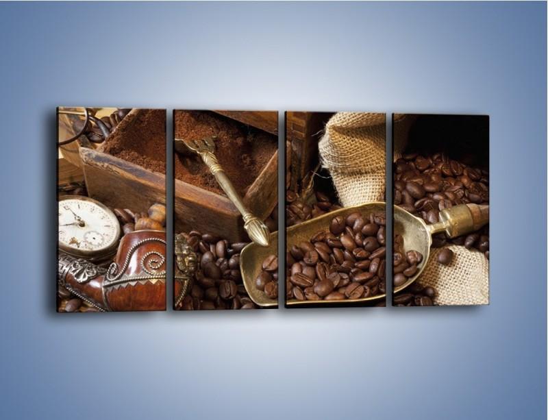 Obraz na płótnie – Szuflada pełna kawy – czteroczęściowy JN356W1