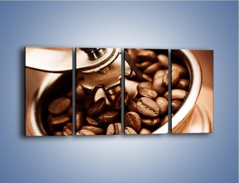 Obraz na płótnie – Kawa w młynku – czteroczęściowy JN361W1