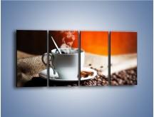 Obraz na płótnie – Aromatyczny zapach kawy – czteroczęściowy JN374W1