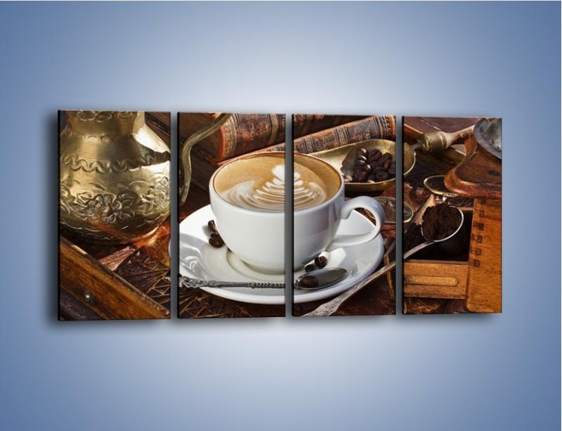 Obraz na płótnie – Wspomnienie przy kawie – czteroczęściowy JN377W1