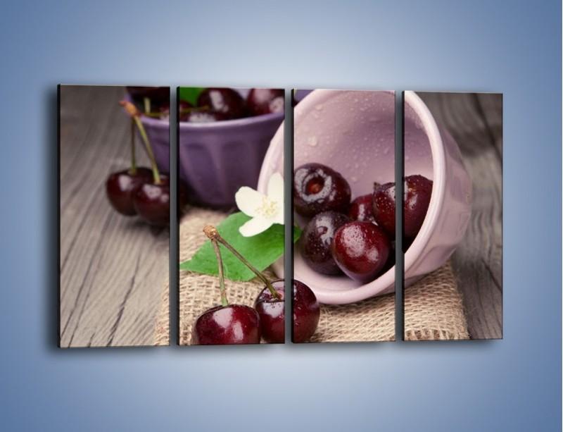 Obraz na płótnie – Wiśnie w małych pucharkach – czteroczęściowy JN399W1