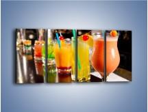 Obraz na płótnie – Barmańskie drinki – czteroczęściowy JN433W1