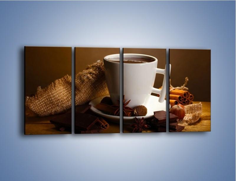 Obraz na płótnie – Gorąca czekolada z dodatkami – czteroczęściowy JN452W1