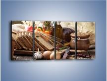 Obraz na płótnie – Chleb w roli głównej – czteroczęściowy JN501W1