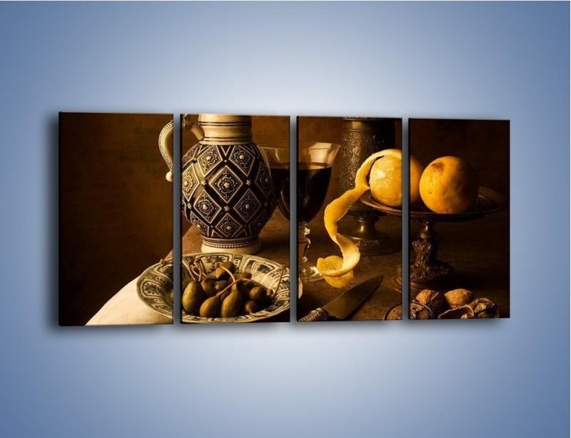 Obraz na płótnie – Cytrynowa serpentyna – czteroczęściowy JN568W1