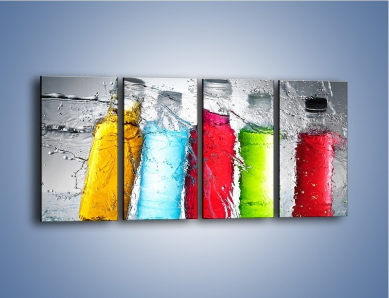 Obraz na płótnie – Alkohol zatopiony w wodzie – czteroczęściowy JN584W1