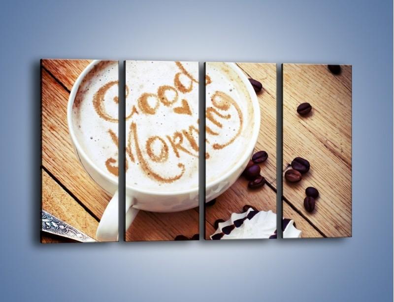 Obraz na płótnie – Kawa z bezą – czteroczęściowy JN605W1