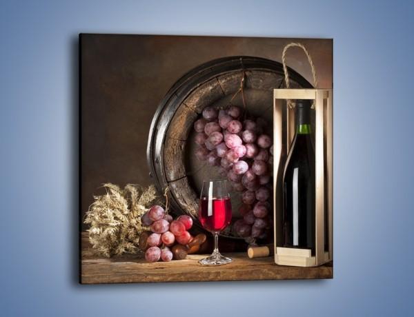 Obraz na płótnie – Elegancki prezent dla winnego smakosza – jednoczęściowy kwadratowy JN143